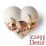 Denz Herz - exklusive Porzellanherzen