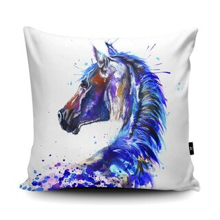 WRAPTIOUS Designerkissen - Splatter Stallion