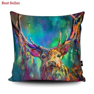 WRAPTIOUS Designerkissen - Woodland Stag