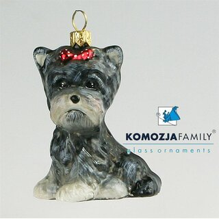 KOMOZJA family - Christbaumschmuck - YORKIE puppy