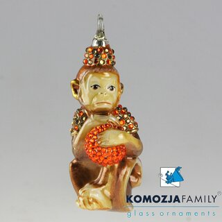 KOMOZJA family - Christbaumschmuck - MONKEY with ball /...