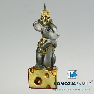 KOMOZJA family - Christbaumschmuck - MOUSE on a cheese /...