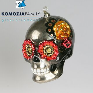 KOMOZJA family - Christbaumschmuck - MEXICAN SKULL red eyes