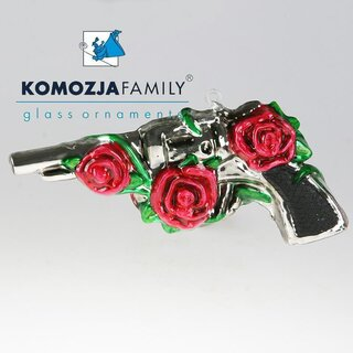 KOMOZJA family - Christbaumschmuck - PISTOL with roses /...