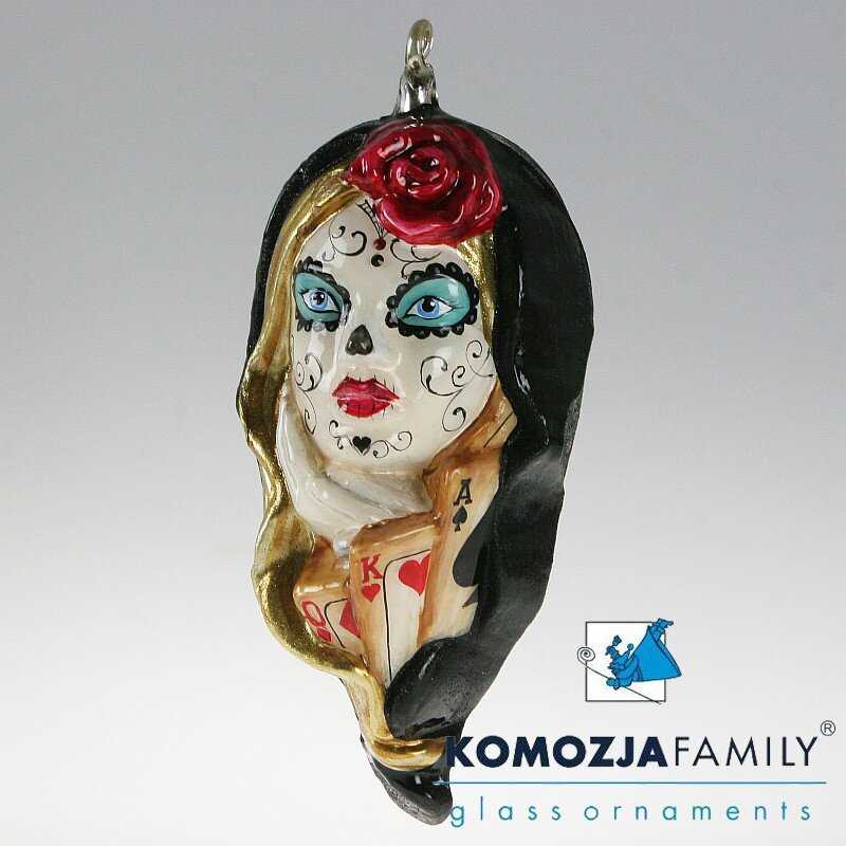 KOMOZJA family Christbaumschmuck SANTA MUERTE mexikanische Heilige schwarz