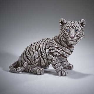 EDGE SCULPTURE - Tiger cub / Baby siberian (white)