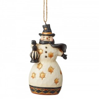 Black & Gold by JIM SHORE Christbaumschmuck - Snowmann...