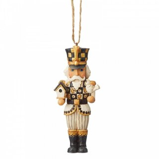 Black & Gold by JIM SHORE Christbaumschmuck - Nutcracker...