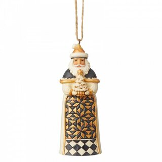 Black & Gold by JIM SHORE Christbaumschmuck - Santa...