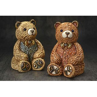 DE ROSA Coll. - Teddy bear green / grüner Teddy - FAMILIES Collection