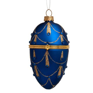 Vondels - Christbaumschmuck aus Glas - Blue egg with blue...