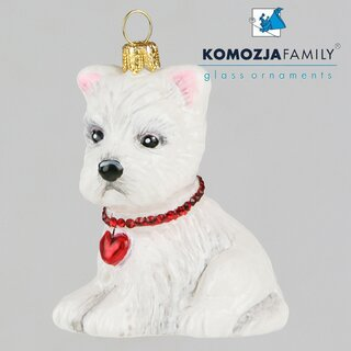 KOMOZJA family - Christbaumschmuck - WESTIE puppy