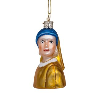 Vondels - Christbaumschmuck aus Glas - Girl with pearl...
