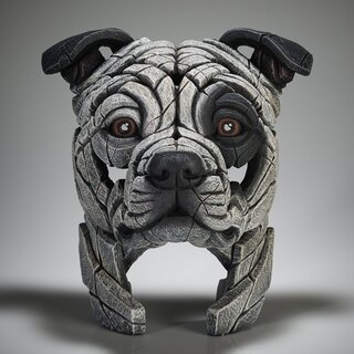 EDGE SCULPTURE - Staffordshire Bull Terrier white patch