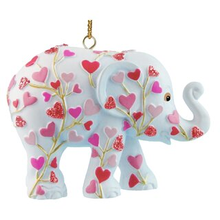 Elephant Parade Ornament  5cm - Pink tree of love