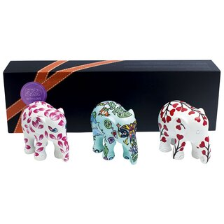 Elephant Parade - Geschenkbox mit 3 Elefanten - WITH LOVE