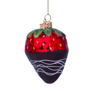 Vondels - Christbaumschmuck aus Glas - red strawberry...