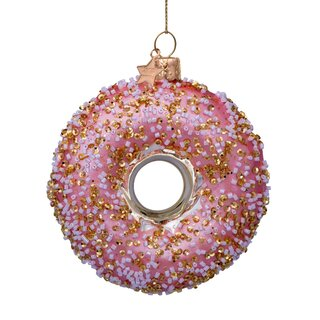 Vondels - Christbaumschmuck aus Glas - orange donut with...
