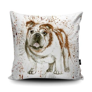 WRAPTIOUS Designerkissen - Splatter Bulldog