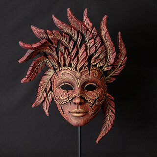 EDGE SCULPTURE Masks - Venetian Carnival red
