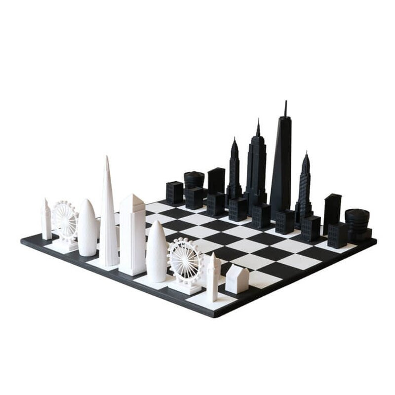 skyline chess new york city vs london special edition set deko unlimited exklusive. Black Bedroom Furniture Sets. Home Design Ideas