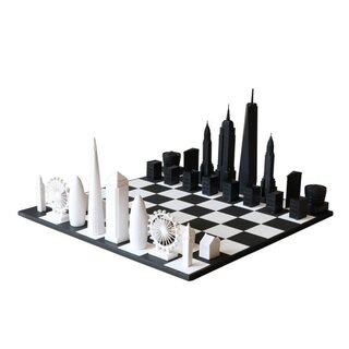 SKYLINE-CHESS - Design - Schach / New York City vs....