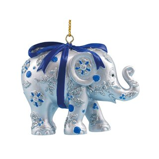 Elephant Parade Ornament  5cm - Bundle of joy silver