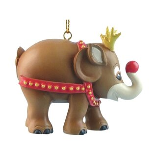 Elephant Parade Ornament  5cm - Rudolph
