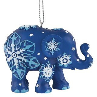 Elephant Parade Ornament  5cm - Snowflakes