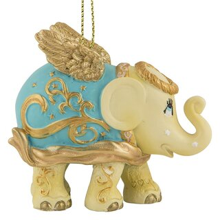 Elephant Parade Ornament  5cm - Golden angel